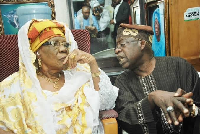 See Cute Photos Of Tinubu And His Late Mother