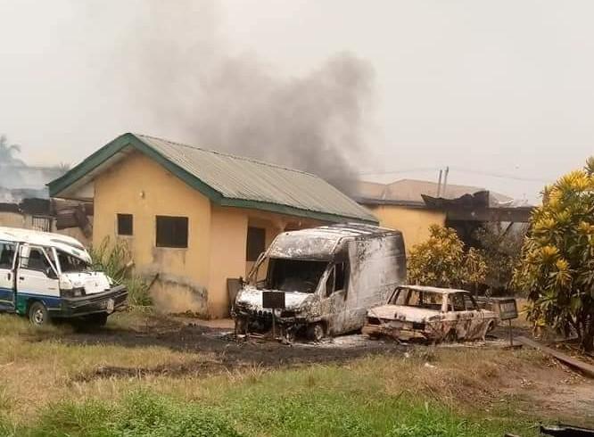 Hoodlums Set Abayi Police Station Ablaze