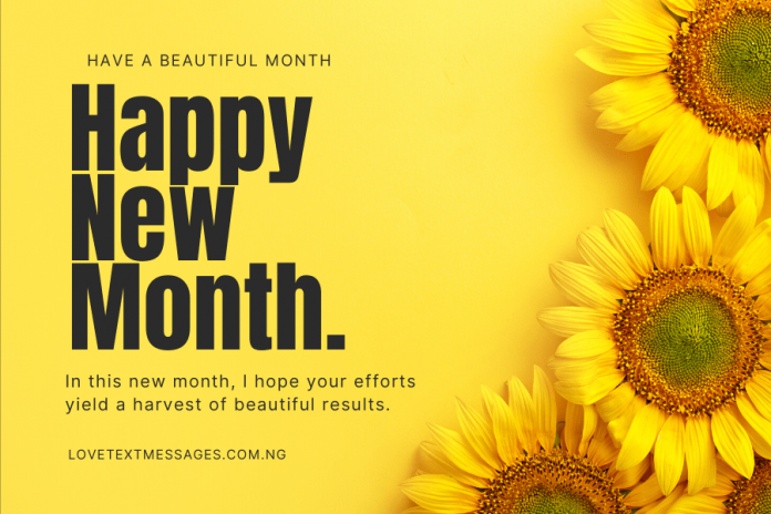 100 Happy New Month Messages
